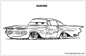 coloring pages of lowrider cars disney cars ramone lowrider cars coloring page free coloring pages