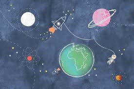 out of this world space wallpaper murals murals wallpaper kids space rockets wall mural