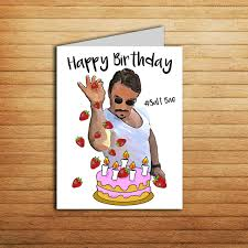 Meme Birthday Card - salt bae birthday card printable funny birthday card for