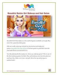 beautiful barbie makeup and hair salon