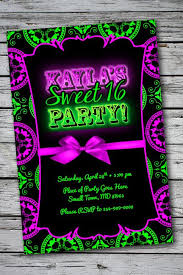hashtag neon party birthday party invitation birthday best 25 neon party invitations ideas on neon glow