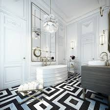 black and white modern bathroom square shower crystal bathroom