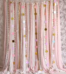 Pink Sparkle Curtains Inspiring Pink White Lace Sparkle Sequin Backdrop Props