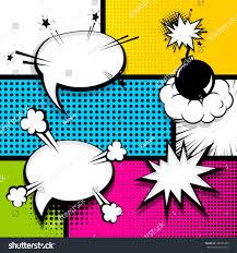 pop art comics book magazine cover stock vector 699605950