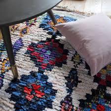 vintage moroccan boucherouite rug all diamonds 195x170cm