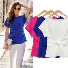 korean fashion women u0027s loose chiffon tops short sleeve shirt