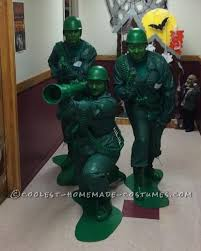 Toy Soldier Halloween Costume Womens Homemade Plastic Toy Soldier Group Costume