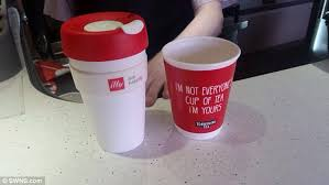 his and mug trains passenger is banned from using his own mug daily