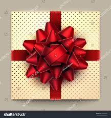 big present bow big bow on dotted gift stock vector 159220730