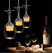 Wine Glass Pendant Light Modern Led Wine Glass Ceiling Light Chandelier L Bar