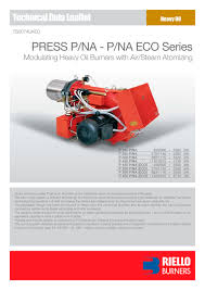 heavy oil presse p na riello pdf catalogue technical