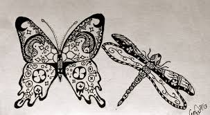 henna butterfly and dragonfly by c3c3g1r7 on deviantart