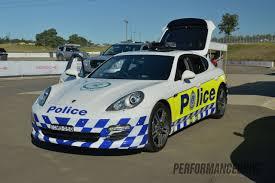 police porsche rennsport australia porsche panamera police car