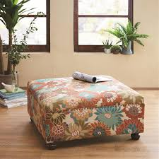 madison park storage ottoman amazon com madison park fpf18 0241 floral reese cocktail square