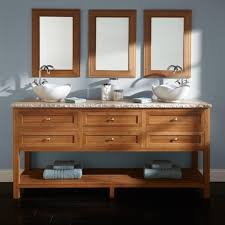 floating bathroom vanity with glass ceramic counter top and two