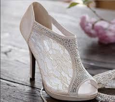 wedding shoes toe 2016 new arrive wedding shoes lace plus size rhinestone peep toe