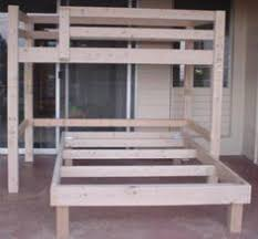 free woodworking plans to build a low loft bunk bed only about 30