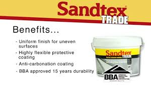 sandtex trade textured high build coating youtube