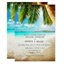 caribbean themed wedding ideas wedding invitations zazzle