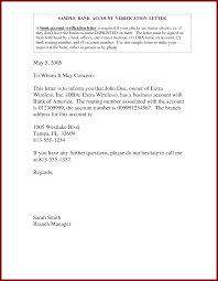 Sle Of Certification Letter For Business Bank Account Verification Letter Sle Reference Letter To The