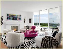 zebra print rug living room home design ideas
