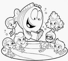 bubble guppies halloween coloring pages