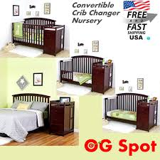 Convertible Crib Toddler Bed by 5 In 1 Side Convertible Modular Crib Changer Nursery Baby Toddler
