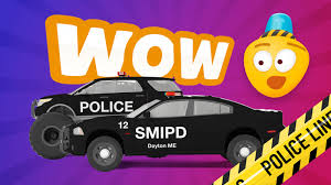 car cartoons for kids police car chase police monster truck