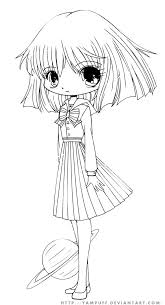 hotaru chibi lineart by yampuff deviantart com coloring pages