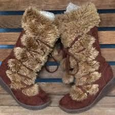 s shoes and boots size 9 71 aeropostle shoes aeropostale faux fur winter boots size