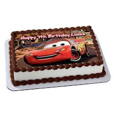 lightning mcqueen cake cars 3 lightning mcqueen disney quarter sheet edible photo birthday