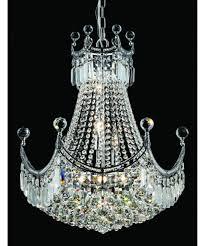 Corona Chandelier Elegant Lighting 8949d20 Corona 20 Inch Wide 9 Light Large Pendant