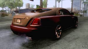 roll royce coupe rolls royce wraith 2014 coupe for gta san andreas