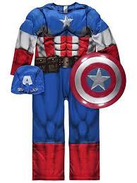 Captain Marvel Halloween Costume Marvel Captain America Fancy Dress Costume Kids George Asda