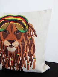 African Safari Home Decor Rasta Lion Dreadlocks Pillowcase African Lions Pillow Covers