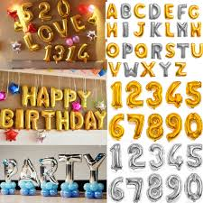 balloon letters 16 40 in silver foil letter number balloons birthday party