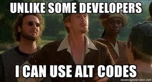 Men In Tights Meme - unlike some developers i can use alt codes robin hood men in