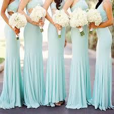 mint blue bridesmaid dresses light sky blue bridesmaid gowns ivory chagne
