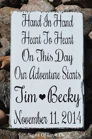 wedding sayings for signs in heart to heart personalized rustic wedding sign decor