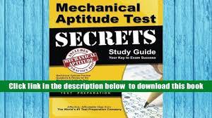 audiobook mechanical aptitude test secrets study guide mechanical