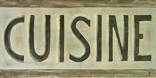 affiche cuisine cuisine brun tableau de costa artiste peintre costa
