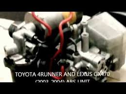 problems with toyota 4runner toyota 2004 2003 4runner and lexus gx470 abs unit problems