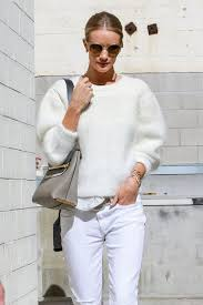 all white casual le fashion rosie hungtington whiteley s casual cool all