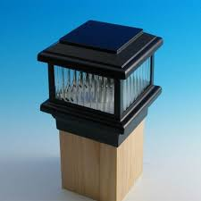4x4 copper carriage style solar post cap lights intended for