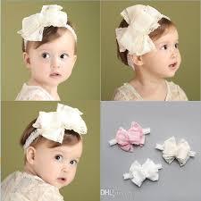 lace headwear infant big bow flower headbands girl lace headwear kids baby