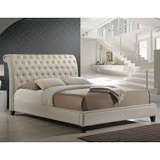 amazon com baxton studio jazmin tufted modern bed with