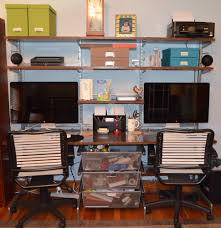 Desk Organized by Build An Organized Home Office Without Permanently Modifying The Room