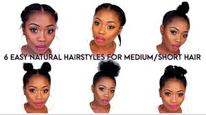 6 back to quick natural hairstyles for short medium hair