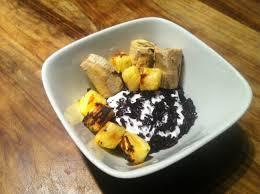 recettes de cuisine indon駸ienne balinaise pudding de riz noir à la balinaise letecestfaitpourjouer