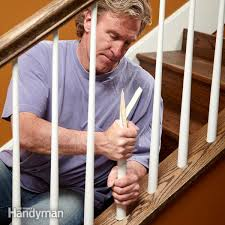 Stair Banister Installation How To Install Stair Spindles Family Handyman